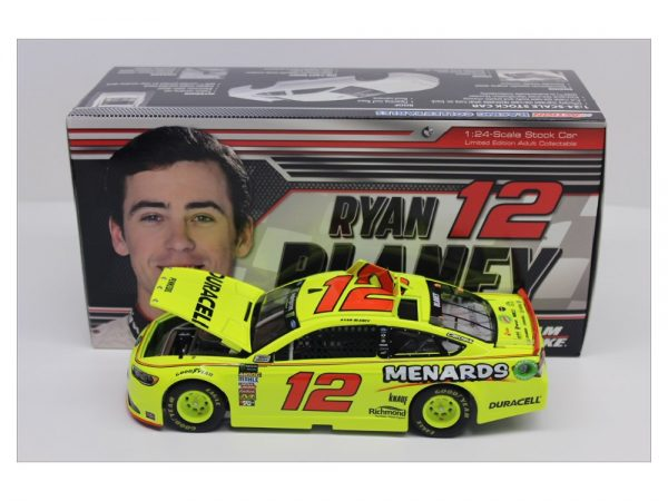 ryan blaney 2018 duracell menards 1/24 diecast