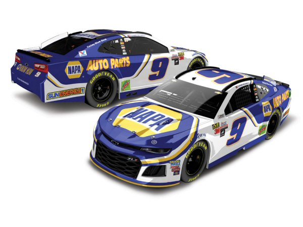 chase elliott 9 2018 napa auto parts 1 24 action nascar diecast at the track racing collectibles. Black Bedroom Furniture Sets. Home Design Ideas