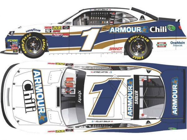 elliott sadler 2018 armour chilli nascar diecast car