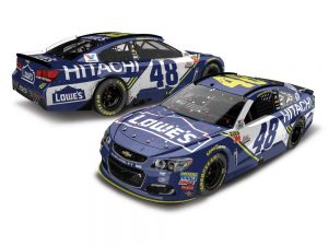 jimmie Johnson 2017 texas win 1:24 raced version diecast car
