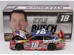 kyle busch 2017 skittles red white blue diecast car