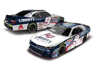william byron 2017 liberty university rookie of the year nascar diecast car