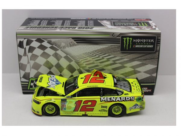 ryan blaney 2018 cam am duel raced version win 1/24 diecast