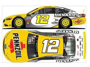 ryan blaney 2018 pennzoil menards diecast