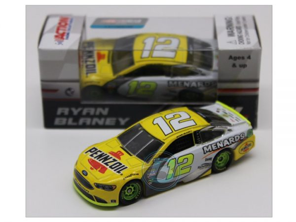 ryan blaney 2018 pennzoil menards 1/64 diecast