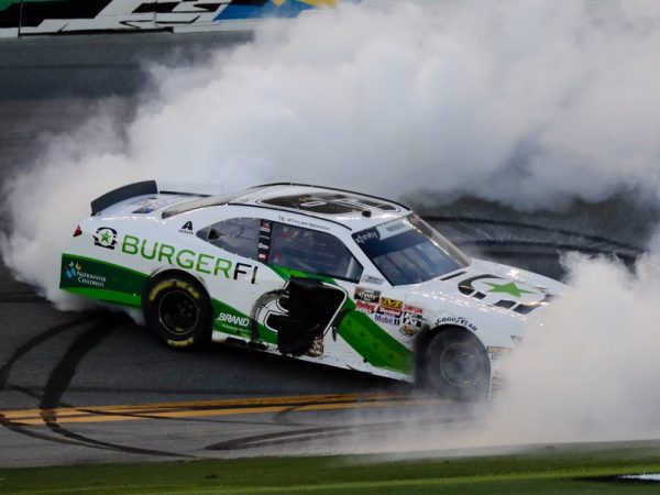 tyler reddick 2018 burgerfi daytona win raced version diecast