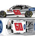chase briscoe 2018 ford mustang diecast car
