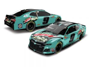 chase elliott 2018 mountain dew baja blast diecast car