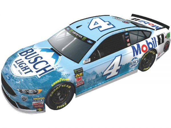kevin harvick 2018 busch light/mobil 1 diecast car