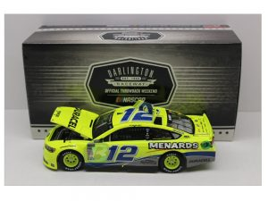 ryan blaney 2018 menards darlington throwbaack 1/24 diecast