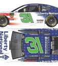 ryan newman 2018 liberty national patriotic diecast