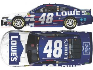 jimmie johnson 2018 lowes patriotic diecast