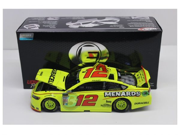 ryan blaney 2018 duracell menards elite 1/24 diecast