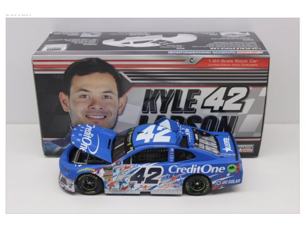 kyle larson 2018 credit one chcagoland 1/24 diecast