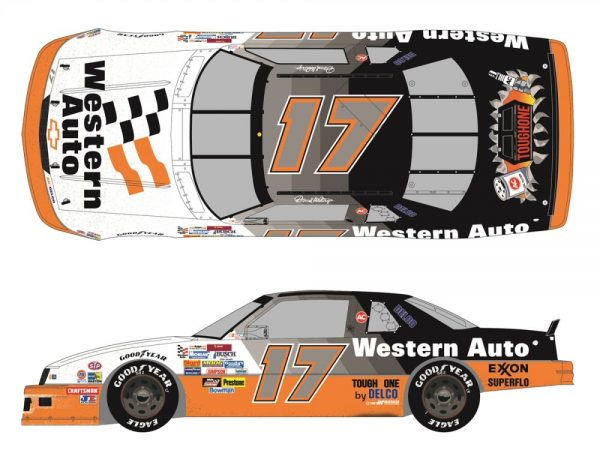 darrell waltrip western auto dalington raced version diecast