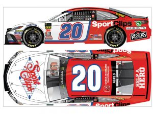 erik jones 2018 sports clips darlington throwback diecast