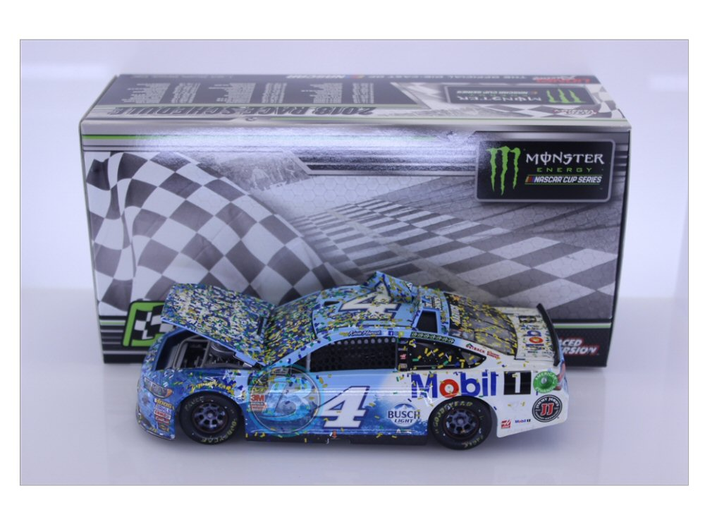 Kevin Harvick 2018 Busch Light / Mobil 1 Michigan Raced Win 1:24 Diecast -  At The Track Racing Collectibles