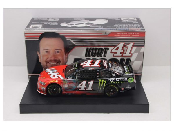 KURT BUSCH 2018 HAAS/MONSTER ENERGY 1/24 DIECAST