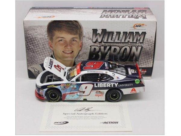 william byron 2017 liberty university homestead win raced version 1/24 diecast