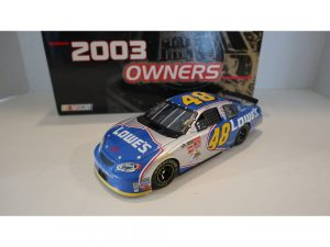 jimmie johnson 2003 lowes team caliber 1/24 diecast